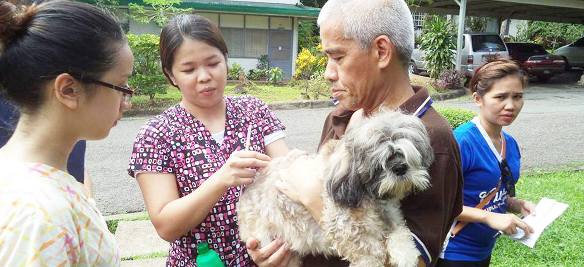 Anti-Rabies Vaccination Drive AmongPets of Staff Housing Residents