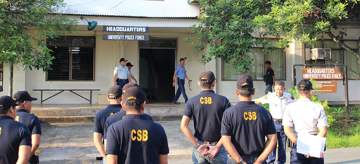 Community Support Brigade (CSB) roving the campus 24/7