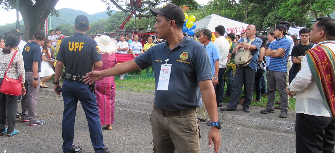 Security assistance during university events, traffic management